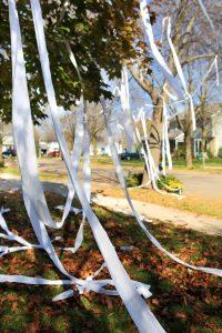 A toilet paper prank