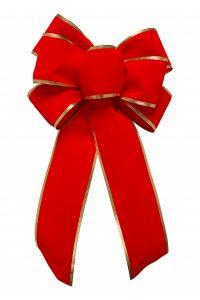 A Christmas gift bow.
