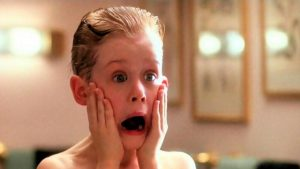 Kevin from Home Alone screams.