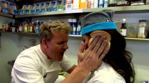 Chef Gordon Ramsay says that his cook is an idiot sandwich.