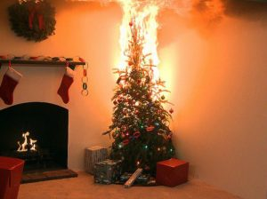 A deadly Christmas tree fire.
