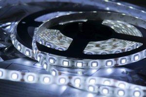 Futuristic LED lights.