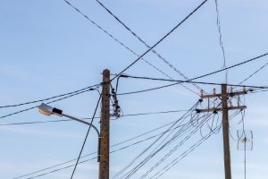 Dangerous power lines.