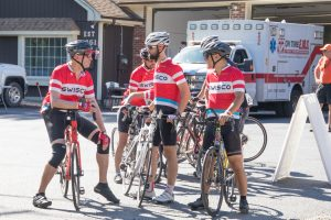 A photo of Team SWISCO on the day of the BikeMS ride.