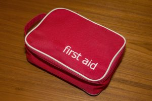 A first aid kit to get ready for illness or accident.