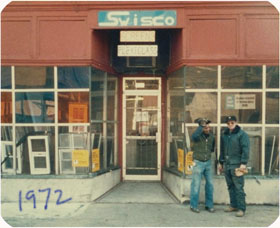 Picture of SWISCO's small repair shop in the 70's.