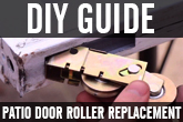 How to replace a sliding glass door roller