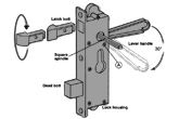 How to install the 40-186 Security Door Lever Mortise Lock Set