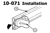Installation Instructions for the 10-071 Shower Door Roller Assembly