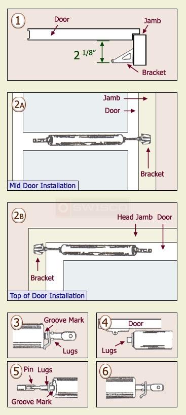 How to install the 40-128 storm door closer : SWISCO.com