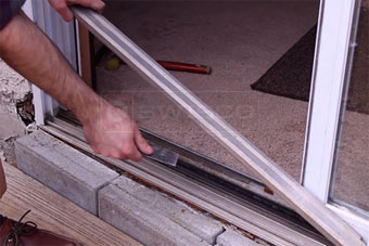 How to replace a sliding glass door roller swisco removing the metal place planetlyrics Images