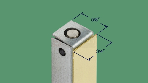 Alternate view of the 42-006 mortise flush bolt.