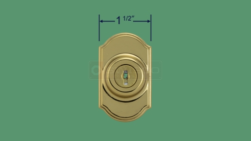 Profile view of the 40-155 deadbolt.