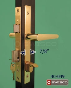 "Photo of the 40-049 replacement lockset with a 7/8"" width."