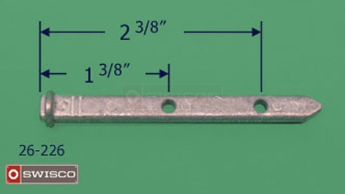 Photo of the 26-226 pivot bar showing measurements of the holes.