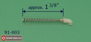 "Spring length of the 91-003 nylon retainer (approx. 1-3/8"")"
