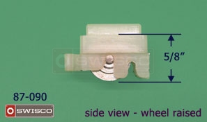 View of the 87-090 window roller with the wheel raised.