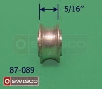 Profile view showing the thickness of the 87-090 replacement wheel.