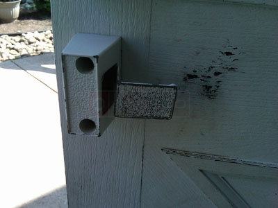 Customer image of their old Forever door latch.
