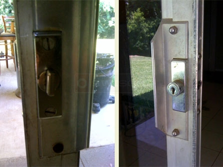 Customer Image Of Their Patio Sliding Glass Door Lock.