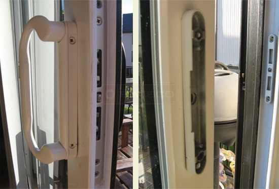 Customer image of their door lever handle set.