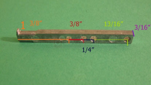 Additional view with measurements of the 26-241 pivot bar.