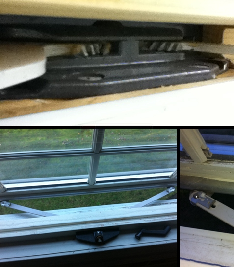 Aditional user photo of their Caradco awning window crank hardware.