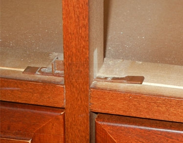 User submitted photo of their dresser's corner glides.