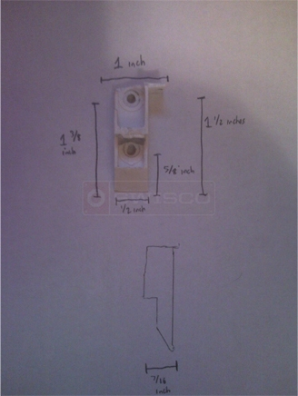 User submitted drawing of top sash guide
