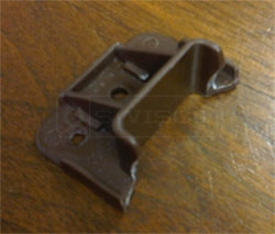 User submitted photo of their broken Kenlin Rite-Trak I drawer guide.