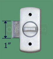 Image displaying the latch height of the 40-039 lock.