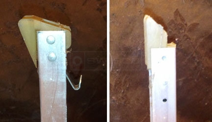 User submitted photo of their Alenco window channel balance.
