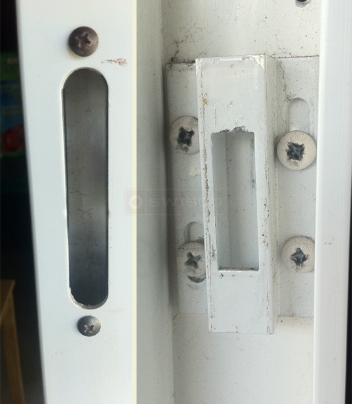 user submitted photo of mortise lock installation hole