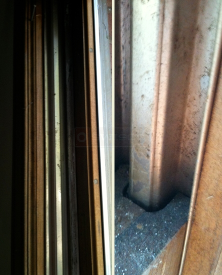user submitted photo of wood window sash and frame circa 1985