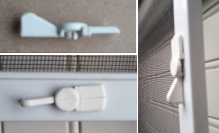 User submitted photos of their Jordan window screen clips.