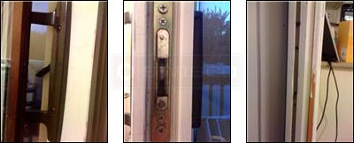 User submitted photo of their sliding door between their kitchen and deck.