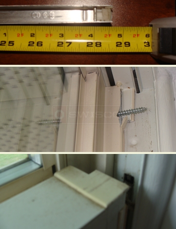 User submitted photo of window hardware, balance and lock.