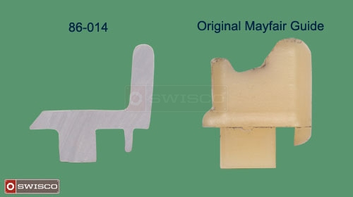 Comparison of the profiles between the 86-014 and the original Mayfair guide.