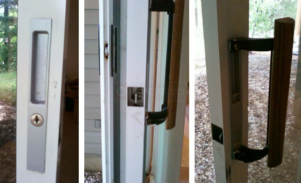 User submitted photo of their existing sliding door locking handle set.