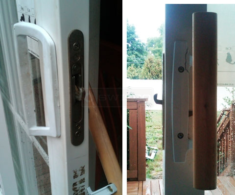 User submitted photos of their existing sliding door handle.