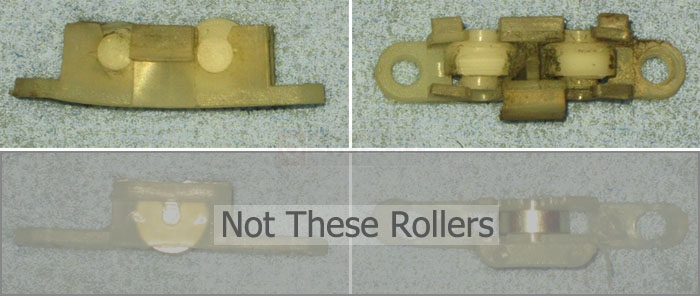 User submitted photos of their sliding window roller.