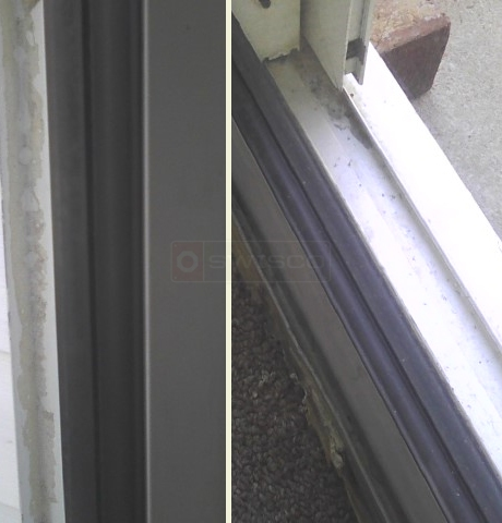 User submitted photo of sliding door spline.