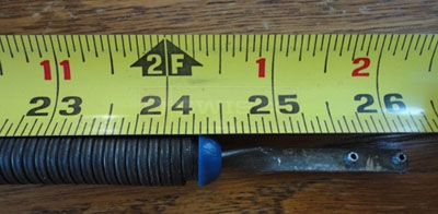 User submitted photo of their spiral balance length measurement.
