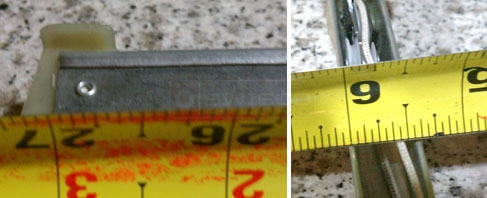 User submitted photos of their channel balance measurements.