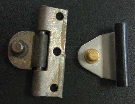 User submitted photo of hinge and hinge stub.