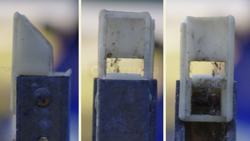 User submitted photos of channel balance attachments.