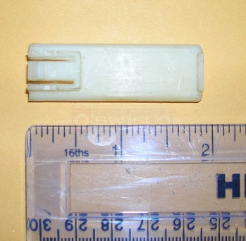 User submitted photos of plastic roller piece.