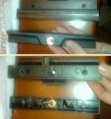User submitted photo of patio door handle set.