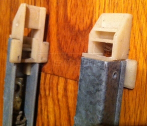 A customer submitted photo of window balances.