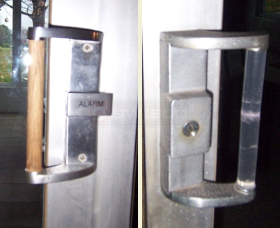 A customer submitted photo of patio door handle.
